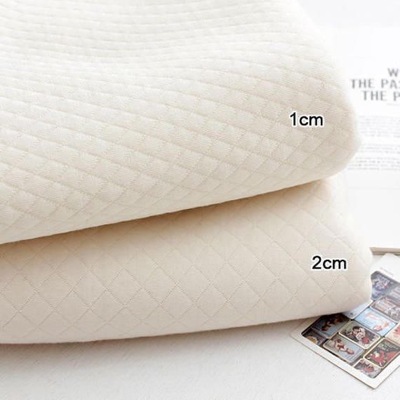 """Dot Organic Quilted Cotton Knit Double Fabric by the Yard 70/"""" Wide MR Ribbon Dot"""