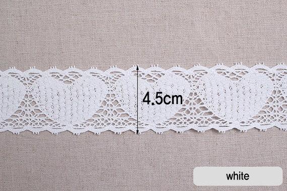 """1yds Torchon knit cotton lace Crochet Trim 3.1/"""" 8cm YH040 laceking2013"""