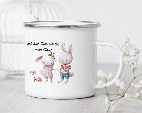 Eamille Tasse Hase, Campingbecher, Hasi Becher