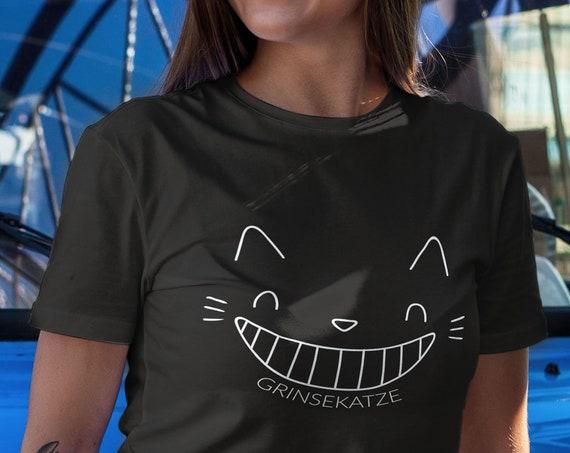Grinsekatze T-Shirt, Damen Shirt, Katze Shirt, Geschenk