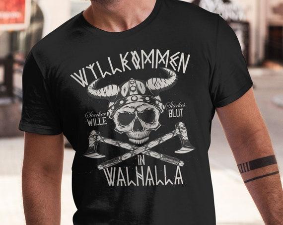 Wikinger Walhalla T-Shirt, Herrenshirt, Damenshirt, Unisex, Frauen, Männer