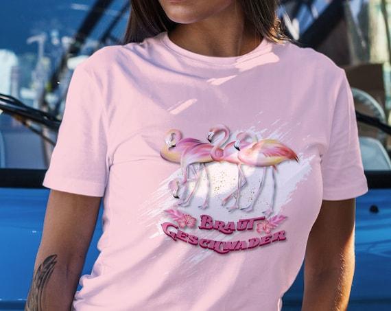 JGA T-Shirt, Braut Geschwader, Junggesellinnenabschied, Flamingo, Team Braut, JGA Damen Shirt, Brautparty