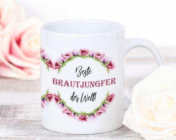 Brautjungfer Tasse, Geschenk, Kaffeebecher, Beste Freundin, Trauzeugin, Brautjungfer Geschenkidee, Keramiktasse