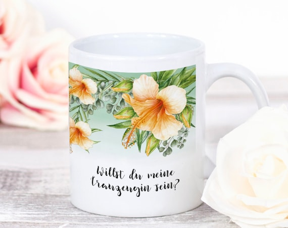 Trauzeugin Tasse, Kaffeebecher, Trauzeugin Geschenk, Geschenkidee,Beste Freundin, Hochzeit, Teetasse, Trauzeugin Frage, Keramiktasse