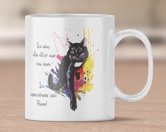 Katzentasse, Kaffeebecher, Kreative Katze, Kaffeebecher, Teetase, Sprüche Tasse