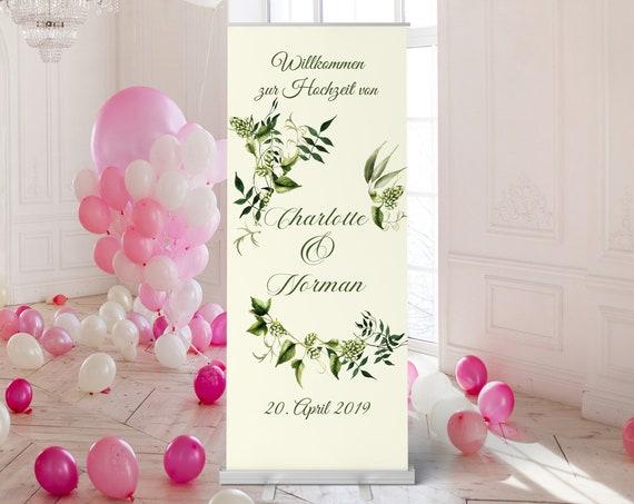 Wein Hochzeitsbanner, Hochzeitsschild, Laub Hochzeit, Willkommensschild