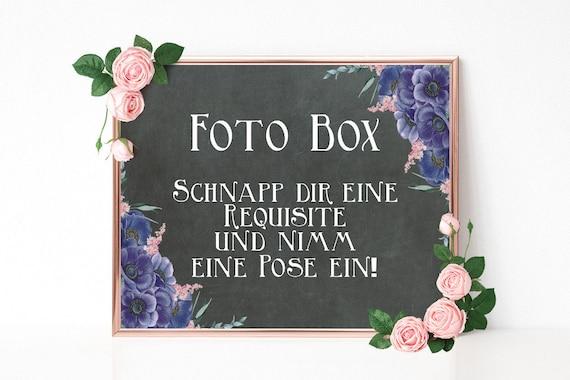 Foto Box Schild, Fotokabine Hochzeit, druckbares Schild, Hochzeitsschild, Hochzeitsdeko, PDF Vorlage, Boho Hochzeit, rustikale Hochzeit