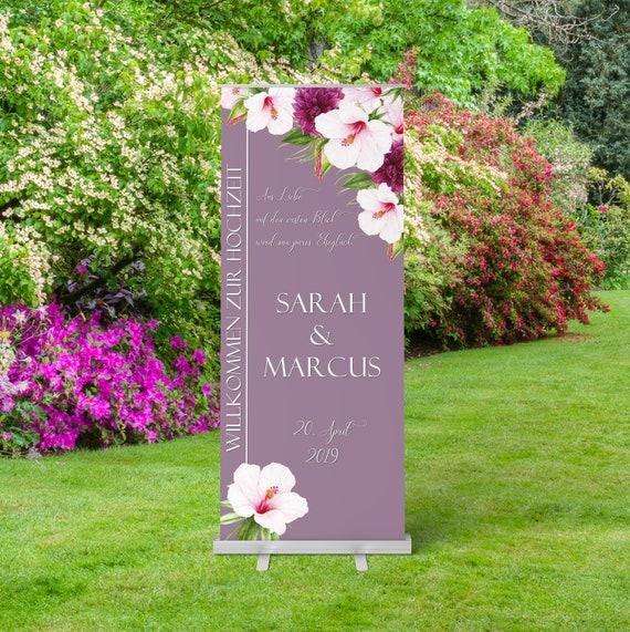 Hochzeit Roll-Up Banner, Hochzeitsschild, Hochzeitsbanner, Hochzeitsdeko, Willkommensschild