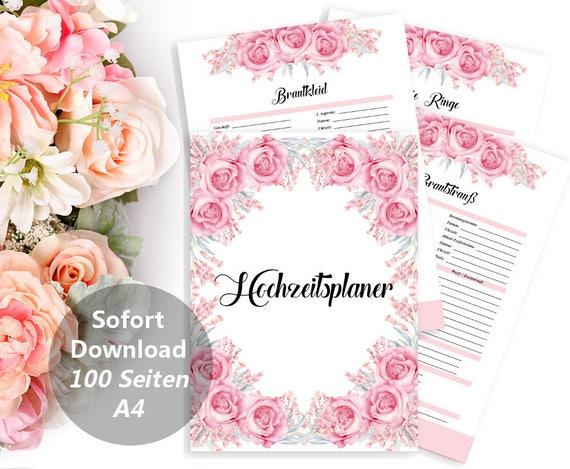 Hochzeitsplaner, Druckbarer Planer, DIY Hochzeit Planer Buch, Budget Organizer, Verlobungsgeschenk, Braut Geschenk, Digital