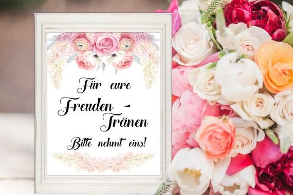 Hochzeit Freudentränen Schild, Dekoration, Dekoschild, Hochzeitsschild, Digital, Sofort-Download, Tränen