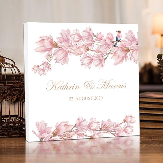 Hochzeitsgästebuch, Personalisiert, Gästebuch Hochzeit, Magnolie, Hochzeitsalbum, Fotobuch, Erinnerungsalbum