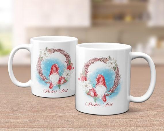 Kaffeebecher Weihnachtszwerg, Gnom Tasse, Weihnachten, Kaffeetasse, Teetasse, Frohes Fest, Nikolaus