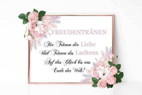 Freudentränen Schild, Hochzeit Taschentuch Schild, Tränen der Liebe, Hochzeitsschild drucken, Hochzeitsdeko Schild, Feier Deko Schild