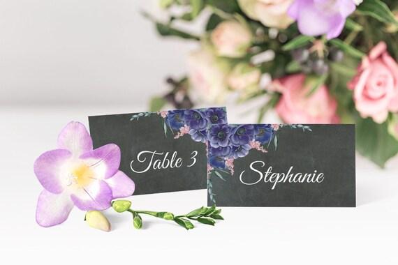Hochzeit Platzkarten, Tischkarten, druckbare Vorlagen, beschreibbare PDF Vorlagen, Hochzeit Namenskarten, DIY Hochzeitsdeko, Tischdeko