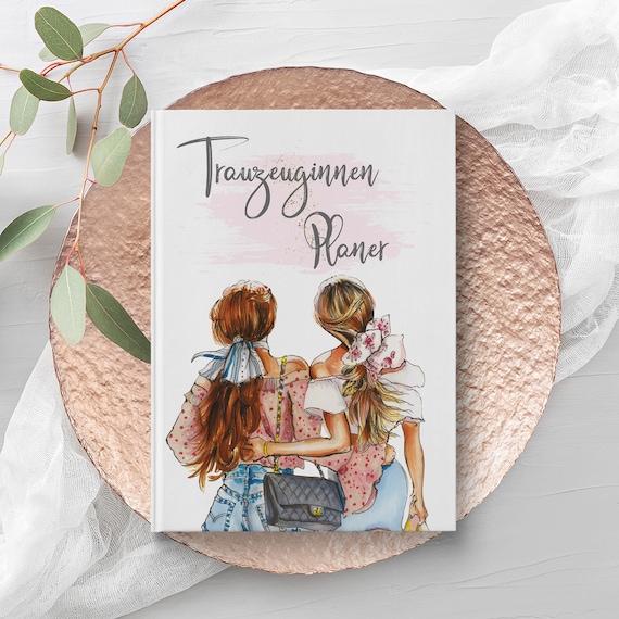 Trauzeuginnen Planer, Trauzeugin Planer Buch, A5 Buch, Trauzeugin Geschenk, Willst Du meine Trauzeugin sein, Geschenkidee