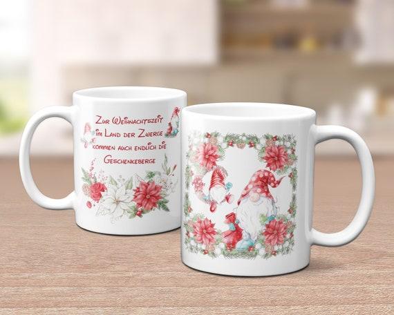 Tasse Weihnachten, Weihnachtstasse, Weihnachtszwerge, Gnome, Kaffeebecher, Kaffeetasse, Teetasse, Nikolaus,  Spruch