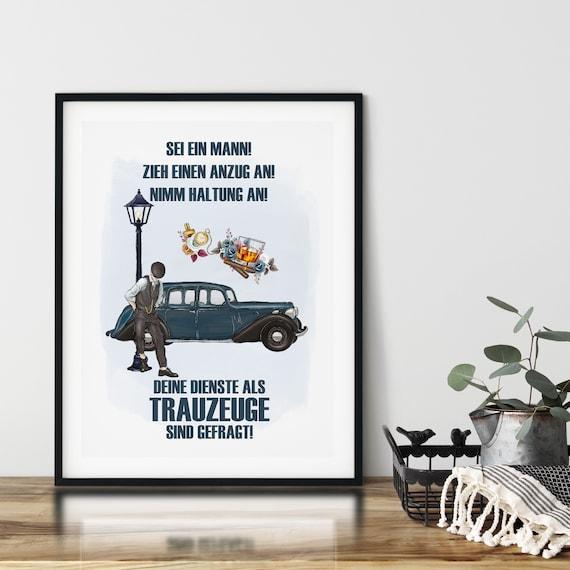 Trauzeuge Geschenk, Poster, Trauzeuge fragen, Wandbild, A4, A3