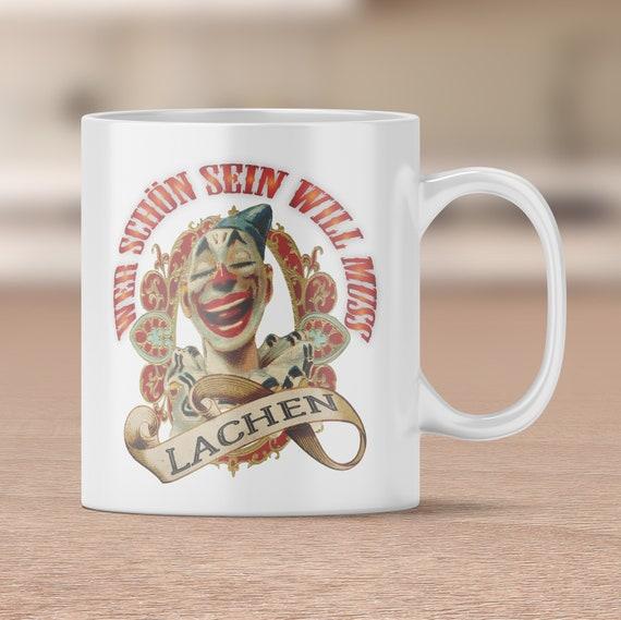 Clown Tasse, Zirkus Kaffeetasse, Lachen, Kaffeebecher, Teetasse, Geschenk, Geschenkidee