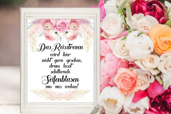 Seifenblasen Schild, Hochzeit, Dekoration, Hochzeitsschild, Hochzeitsdeko, Digital, Sofort-Download