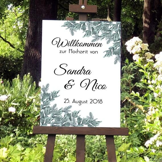 Willkommen Hochzeit Schild, Hochzeitsschild drucken, Willkommensschild, Hochzeitsdeko, DIY Hochzeit, Digitale Willkommen Tafel, Empfang
