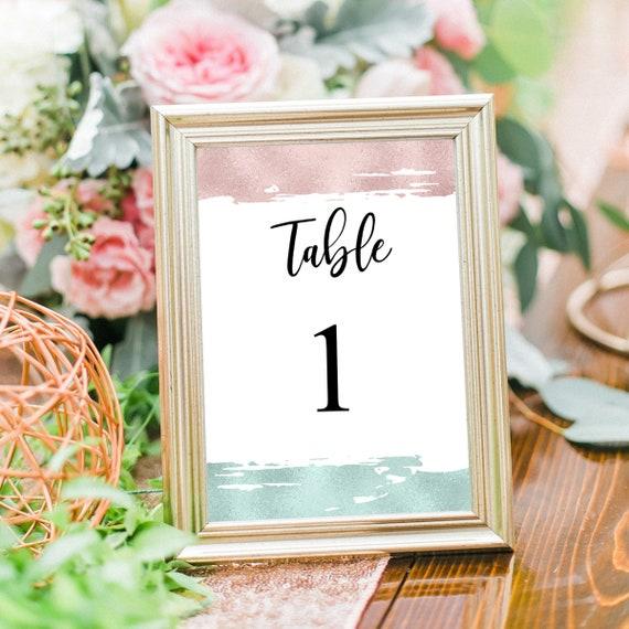 Hochzeit Tischnummern, Druckbare Tischnummer Karten, Editierbare PDF Vorlage, Tischdeko, Hochzeitsdeko, Empfang Tischnummern, DIY Hochzeit