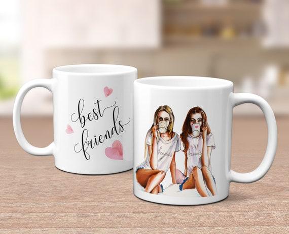 Beste Freundin Tasse, Kaffeebecher, Geschenk, Freundin Geschenkidee, Kaffeebecher, Keramiktasse, Teetasse