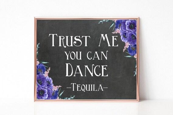 Vertrau mir du kannst tanzen, Hochzeit Schild Digital, Boho Hochzeit, Rustikale Hochzeit, Sofort Download, Hochzeitsdeko, Tafel