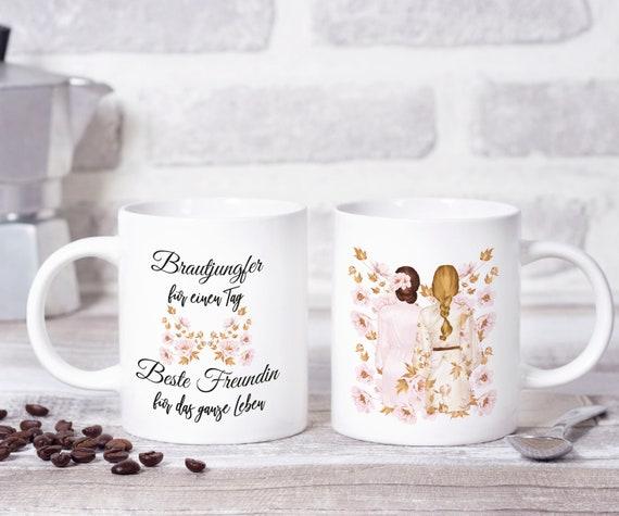 Brautjungfer Tasse, Geschenk, Brautjungfer Geschenkidee, Becher, Kaffeebecher, Kaffeetasse