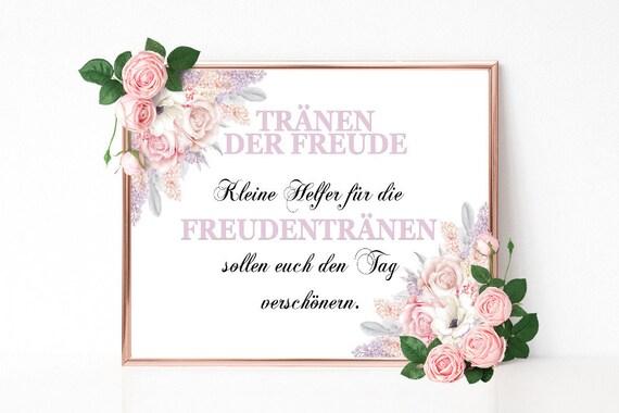 Freudentränen Schild, Hochzeitsschild drucken, Hochzeitsdeko, Dekoschild Hochzeit, PDF Vorlage, DIY Hochzeit, Tränen Schild, Freude Schild