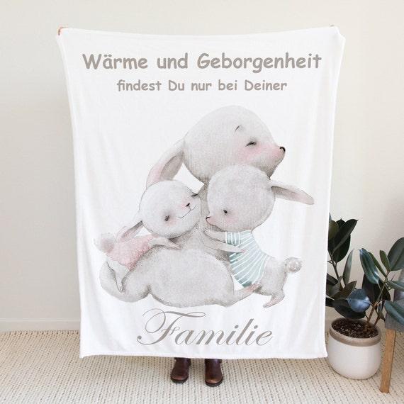 Familie Fleecedecke, Sofadecke, Überwurf