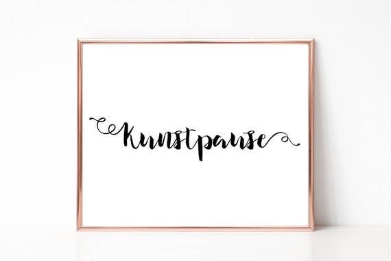 image regarding Printable Word Art referred to as Kunstpause Print, Term Artwork Print,Printable Wall Artwork, Electronic Print, Typography, Minimalist, House decor, Business office, Perform House