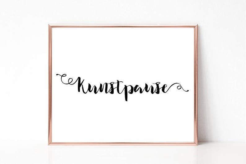 Kunstpause Print Minimalist Word Art Print,Printable Wall Art Digital Print Home decor Work Space Typography Office