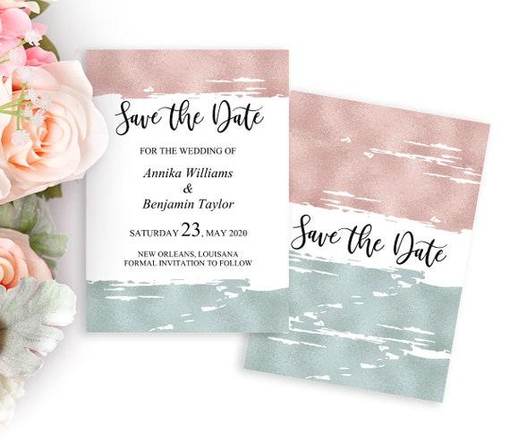 Save the Date Karte, Hochzeitskarte, Hochzeitseinladung, DIY Hochzeit, Einladung Vorlage, Editierbare PDF, Download, Verlobung, Hochzeit