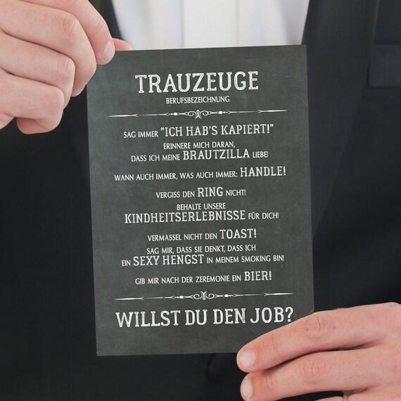 Trauzeuge Vorschlag Karte, Druckbare Karte, Trauzeuge Berufsbezeichnung, Hochzeit Karte, Sofort Download
