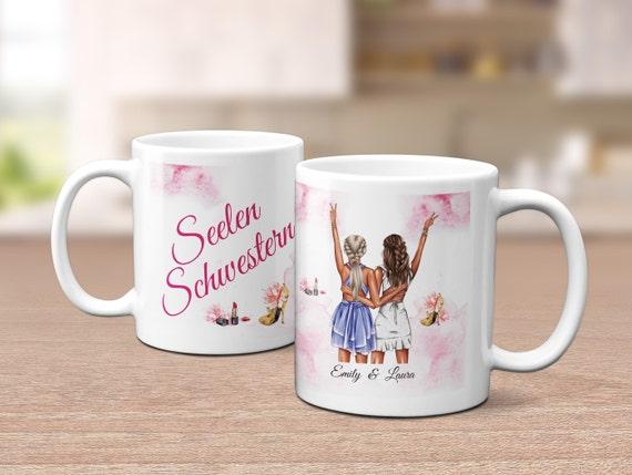 Tasse Seelenschwester, personalisiert, Beste Freundin, Kaffeebecher