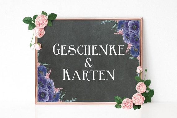 Geschenke und Karten Schild, Hochzeitsschild, Geschenketisch, druckbare Hochzeitsdeko, Dekoschild Hochzeit, Boho Hochzeit, DIY Hochzeit