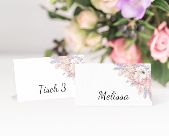 Hochzeit Platzkarten, Tischkarten Vorlagen, druckbare Tischdeko, Editierbare PDF, Hochzeitsdeko, Sofort Download, DIY Hochzeit