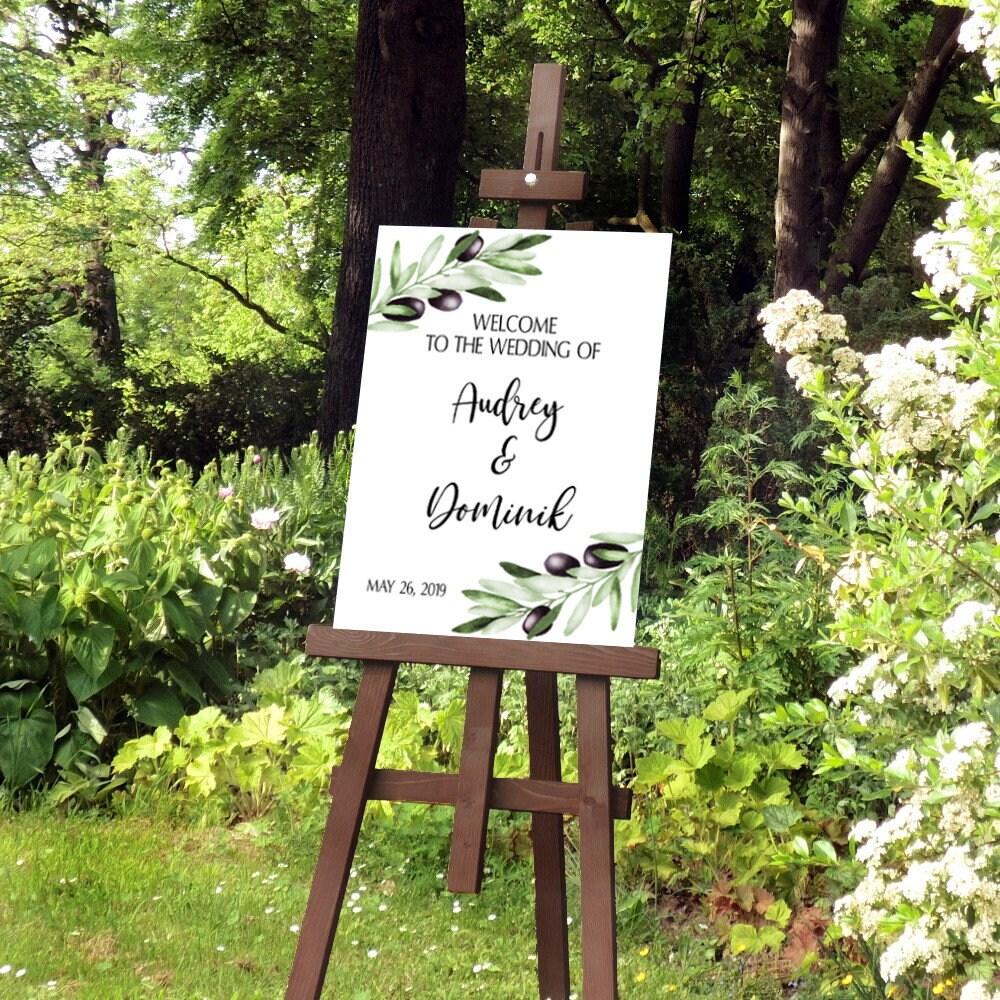 Oliven Hochzeitsschild, Mediterrane Hochzeit, Willkommen Hochzeit ...