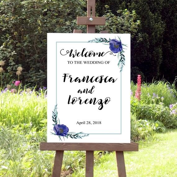 Hochzeit Willkommensschild, Druckbares Hochzeitsschild, Willkommen zur Hochzeit, Schild, moderne Hochzeit, Personalisiert, PDF