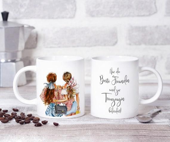 Trauzeugin Tasse, Trauzeugin Geschenk, Kaffeebecher, Kaffeetasse, Beste Freundin, Trauzeugin fragen, Teetasse, Keramikbecher