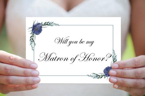 Matrone der Ehre Karte, Willst du meine Matrone der Ehre sein, Druckbare Vorlage, Sofort Download, Hochzeitskarte, Einladungskarte, PDF