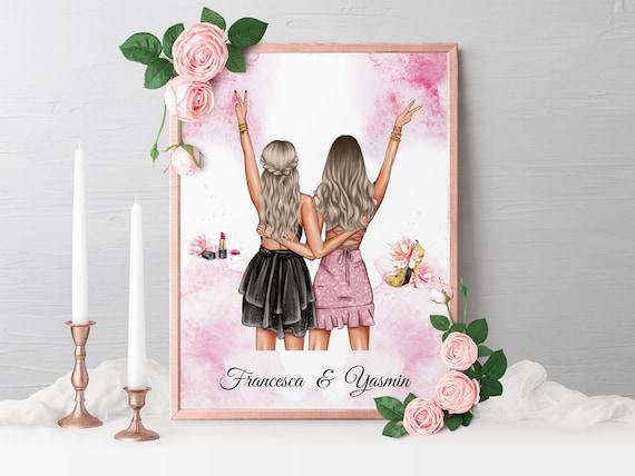 Beste Freundinnen Poster, A4, A3, Wandbild