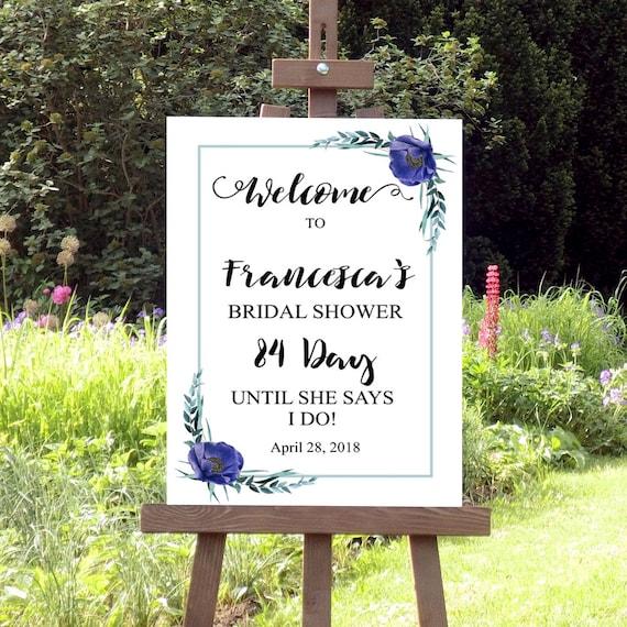 Willkommen zur Brautdusche Schild, Willkommensschild, Druckbares Schild, Brautparty, JGA, Hochzeitsdeko, Hochzeit, Brautdusche Deko