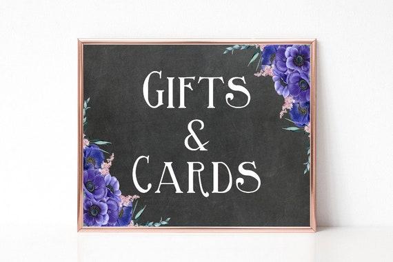 Geschenke und Karten Schild, Hochzeit Dekoration, Digital, Sofort-Download, Boho Hochzeit, rustikale Hochzeit, Tafel Schild