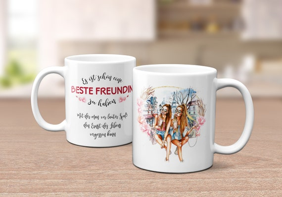 Beste Freundin Tasse, Geschenk, Kaffeetasse, Kaffeebecher, Geschenkidee, Teetasse, Keramiktasse