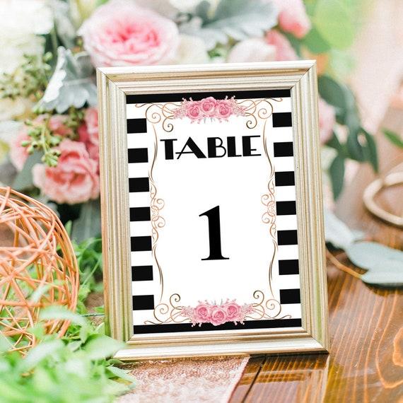 Tischnummern Hochzeit, beschreibbare PDF Vorlage, druckbare Tischnummer Karten, DIY Hochzeitsdeko, Tischdeko, Tischkarten, Sofort Download