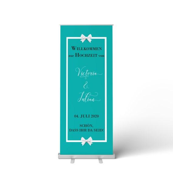 Hochzeitsbanner, Hochzeitsschild, Willkommen zur Hochzeit, Hochzeitsdeko, Roll-Up Banner, Personalisiert