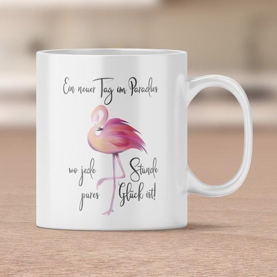 Flamingo Tasse, Paradies Kaffeetasse, Spruch Tasse, Kaffebecher, Teetasse, Flamingo Becher, Geschenk, Schwester beste Freundin