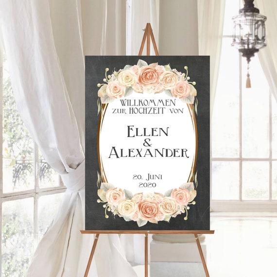 Hochzeit Willkommensschild, Hochzeitsschild personalisiert, Vintage Hochzeit, rustikale Hochzeit