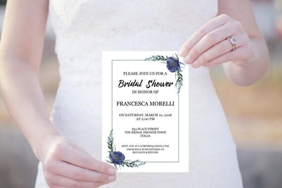 Bridal Shower Einladung, Brautdusche, Editierbare PDF Vorlage, JGA, Brautparty, DIY Hochzeit, Junggesellinnenabschied Einladung